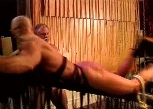Gay bondage with spanking