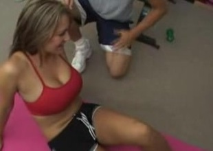 Athletic Girl With Huge Breast Needs Assist
