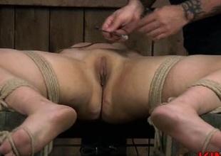 Bondage slut butt spanking