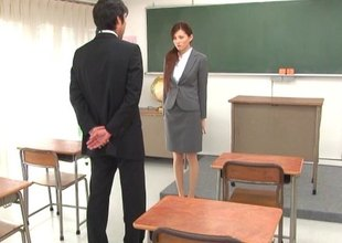 Leggy Japanese teacher gets fucked by the college dean