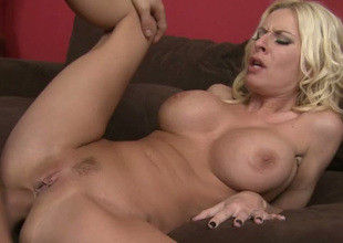 Damn sexy large breasted blonde slutty girlie gonna be analfucked hard