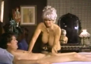 There're so many amazing things going on in this vintage porn video