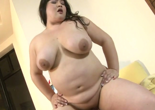 Extremely plump dark brown hoe Kelly Shibari sucks and rides hard dick