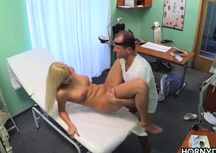 Golden-haired patient gets creampied