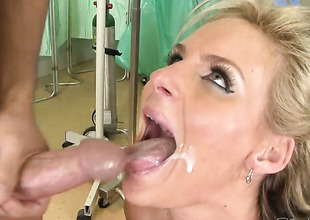 Johnny Castle explores the depth of gorgeously sexy Carolyn Reeses wet fuck hole with his fawn