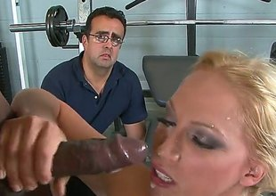 She does it as her husband watches. It is a big turn on for this redhead and for her husband to have sex with a strange dudes whilst her guy is watching them.