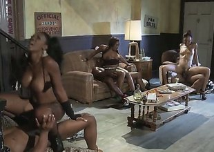 Fiery foursome is where Jada Fire shines the brightest. For both her and her friend, theres a big black cock and they take them on like the professionals that they are