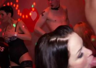 Cute ripped orgies at the having sex party