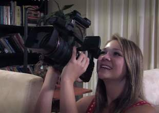 Ash Hollywood is here to make an educative video on how to have sex properly. So she takes off her uniform and gets her friend to film her with her boyfriend