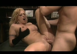 Blond with big mambos needs this hard cock pounding her constricted cunt