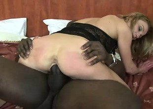 Horny blond mama Suzy can't live without to get her arse fucked hard by a black weenie