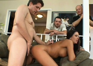 Dude lets his foxy wife cuckold him banging some other dude in front of him