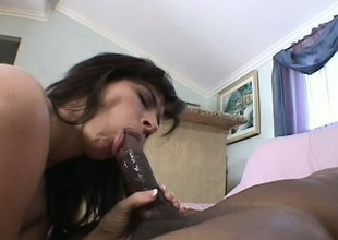 Dirty sexy MILF has an insatiable craving for stiff darksome meat