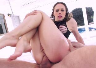 Tight ass of hot pornstar Chanel Preston fucked by a big dick