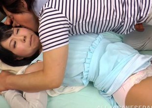 Lonesome Japanese MILF has her cunt licked by her paramour