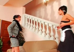 Dominant gal has wicked fun with her lovely maid