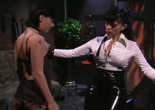 This short haired brunette accepts being an obedient battle-axe for her mistress