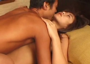 Awesome brunette from Japan gives stout BJ before outstanding example mish fuck