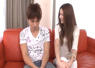 Have the impression fucked Japanese cunt is juicy for cock riding