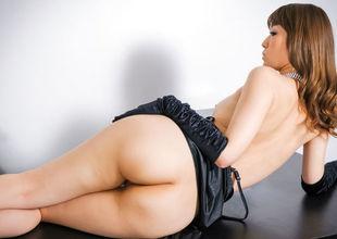 Amazing solo posing along lingerie beautyВ YuriaВ