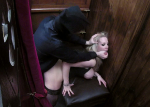 Nasty golden-haired hoe Rebecca Moore banged hard by a priest