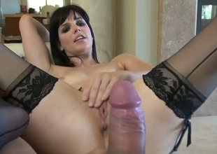 Nasty beauty Bobbi Starr gets her butt hole drilled wide of Toni Ribas
