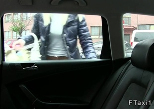 Czech fake taxi driver gets some bawdy cleft