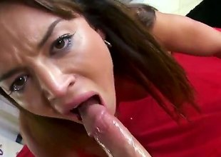 Franceska Jaimes is a hawt Latina babe who has merely one thing on her mind, and that is how to get laid hard with a dick in her mouth and then her cunt.