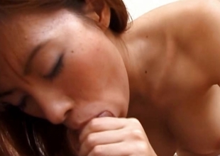Asian redhead getting cumfilled