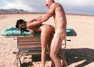 Johnny Sins sticks his meat intercalate magically sexy Rachel Starrs mouth