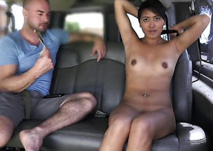 Exotic Angelina with round booty shows her love for giving cook jerking