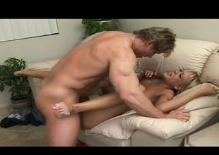 Sexy young chick Naomi Cruise enjoys a round of hardcore dick riding