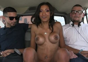 Horny porn star is cruising around town, looking for horny men