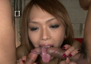 This Asian chick is the kind of slut who loves giving blowjobs