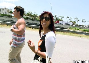Redhead Maiden With Hot Contraband Awarding Her Guy Oral-stimulation Outdoor