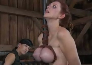 This Sadomasochism clip shows the mistress hitting the hard labour with a wooden stick