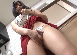 Fresh japanese brunette hair is wrapped in a web him magic