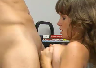 Curvy college student fucking dirty after the lessons