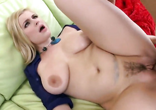 Blond old bag with big tits fucked