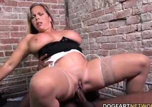 Amber Lynn Bach Fucks A Ebony Guy In A Prison