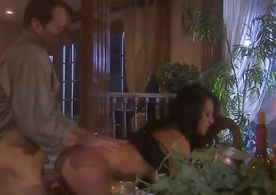 Cute little ol dark brown pornstar, Gianna Lynn is wearing underware and is in a room thats filled with candle light. Her man is pushing the restrictions of her dripping fanny in advance of a nice facial