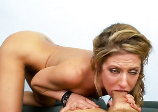 Sheena Shaw has fire in her eyes as that babe gets her mouth drilled by her bang buddy