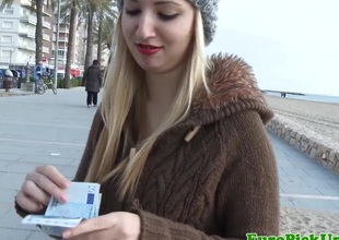 Eurosex clumsy facialized outdoor for cash