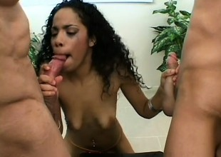 Black beauty chokes and splutters on two big poles of white meat