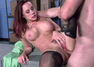 Secretary sex in stockings with the slutty Chanel Preston