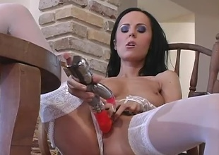 After a admirable prolonged bit of playtime with her toys, this stunning brunette, named Amanda, is ready for anything!  This is a 31 minute hardcore scene with a lady nobody would ever say no to.  She fucks her Rabbit previous to a juvenile stud shows up to give her the r