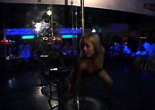 Pole Dancing In Night Club
