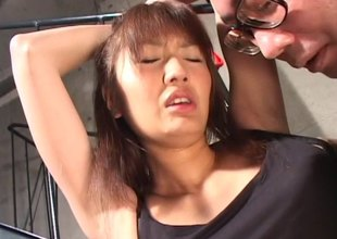 Enticing Japanese MILF bitch in underware gets a snatch drilling