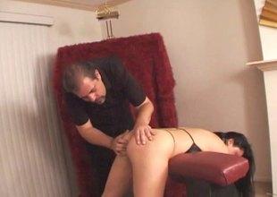 Sexy porn sluttie Leah Stevenson bounced hardcore to her horny hot man's dick