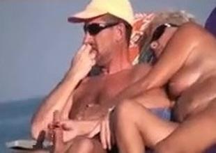 Hidden livecam set on nudist beach
